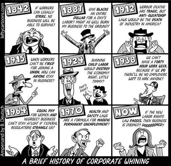 A Brief History Of Corporate Whining