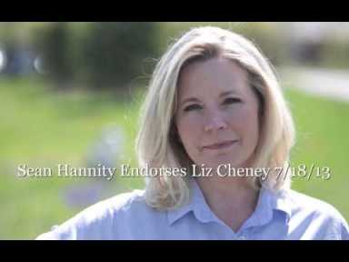 Sean Hannity Endorses Liz Cheney -- Nuff said?